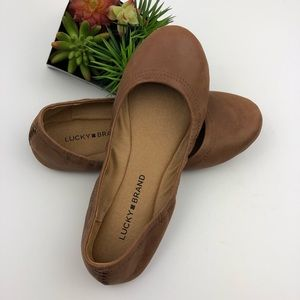 Lucky Brand Tan Leather Ballet Flats | 7.5
